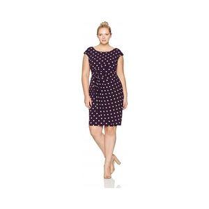 Connected Apparel Women's Plus Dress 24W Side Wrap